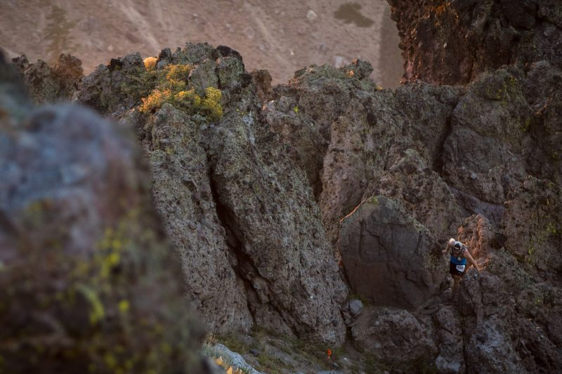 Kyle Shade traversing the Palisades. Photo: Scott Rokis Photography